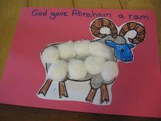Abraham Preschool Take home Craft: Cute preschool craft for Abraham and Isaac story - God gave Abraham a Ram
