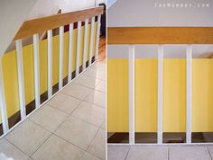 Cheap Way To Child Proof A Stairway With Banisters Which