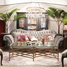 The Club petite size sofa in a new and even more luxurious fabric. Shop the Club Collection at Arhaus.com.