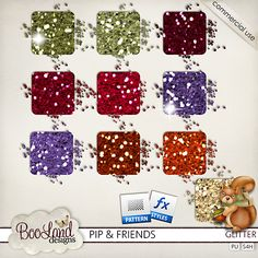 #Pip and Friends Mega Glitter Pack by #Booland Designs #theStudio #digiscrap #autumn