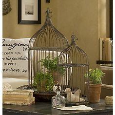 Bird cages - guest bedroom