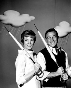 Julie Andrews and Gene Kelly    my Geek and nerd side extends to old musicals.  that and Gene Kelly was freakin' HAWT!  ~K