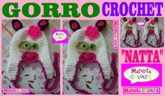 """Crochet Tutorial Gorro Bebe y Niños """"La Vaquita Natta"""" (Parte 1) paso a paso, primero hacemos el gorro luego los ojos, la nariz y las orejitas de la vaquita,..."""