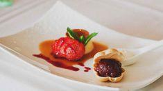 Creme caramel with nigori sake sorbet (purin to nigori zake so-re-be) recipe : SBS Food Delicious Desserts, Dessert Recipes, Yummy Food, Sake Recipe, Red Bean Paste, Sbs Food, Creme Caramel, Pasta Recipes, Dariole Moulds