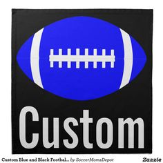 Personalised Football Banner Dark Blue