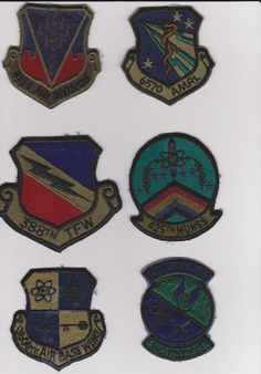 Lot of 6 USAF Air Force Subdued Squadron Patches. $16.00, via Etsy. #patches #military #USAF