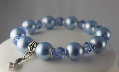 Handmade Bee Blue Bracelet available on www.crystalandvanilla.co.uk