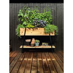 bac à fleurs en bois avec rangement: Raised grow box via Kekkilae Indoor Greenhouse, Indoor Garden, Indoor Plants, Outdoor Gardens, Herb Garden, Garden Plants, Jardiniere Design, Grow Boxes, Indoor Flowers