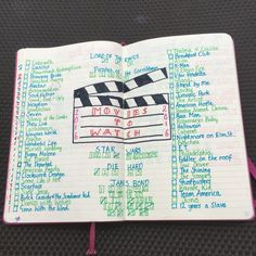 Cool Movies to watch: Image result for movies to watch bullet journal... Bullet Journal Check more at http://kinoman.top/pin/25733/
