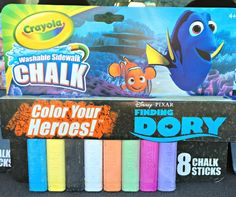 I love the new products available this summer from @Crayola including movie/character inspired chalks and 3D chalk sets. #FindingDory #Crayola #Summer