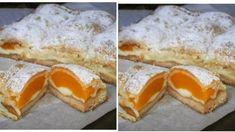"""Top hrnkový dezert: Fantastický koláč """"Broskvová peřinka"""" – křehké těsto, ovoce a vanilkový pudink! Sweet Tooth, French Toast, Goodies, Pie, Cupcakes, Pudding, Yummy Food, Sweets, Cooking"""