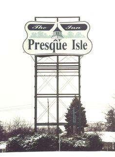 Hand-painted sign at the gateway to Presque Isle State Park, Erie, PA.