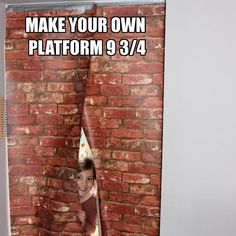 Make an entrance with Platform 9 3/4 wall at your Harry Potter party!