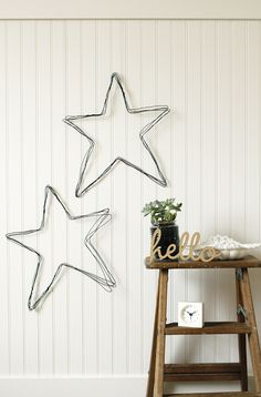 DIY Wire Star Wall Art