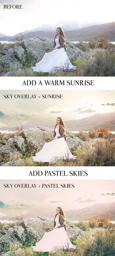 Add a Sunrise and Beautiful Skies to your images easily!! ElyanaIvette Photoshop Actions and Lightroom Presets