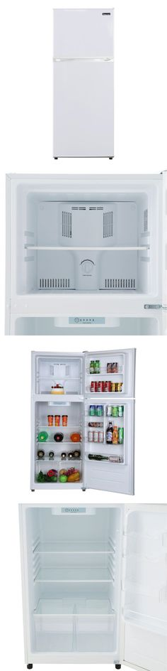 Refrigerators 20713: 9.9 Cu Ft Top Freezer Refrigerator Fridge White Glass Storage Shelves Full-Size -> BUY IT NOW ONLY: $480.53 on eBay!