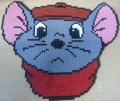 "Mister Bernard from Disney movie ""The Rescuers"" Hama perler beads by Katojana on deviantART"