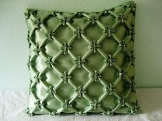 Jasmine flower cushion, smocking