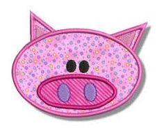 Image result for applique pig