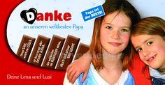 Kinderschokolade für Vatertag!  Süße Idee!