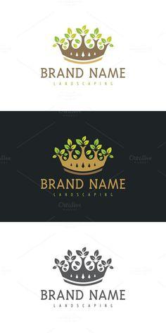 Crown Garden. Logo Templates. $29.00