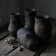Pavel Zhuravlev } Dark art of the dark fairies ✨ Wabi Sabi, Japanese Pottery, Ceramic Pottery, Slab Pottery, Ceramic Art, Nature Decor, Fairy Art, Vase, Decorating Tips