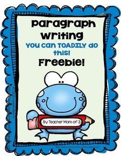 This paragraph packet FREEBIE was created with the second or third grader in… Kids Writing, Writing Resources, Teaching Writing, Writing Skills, Writing Activities, Writing Services, Writing Ideas, Elementary Teaching, Teaching Strategies