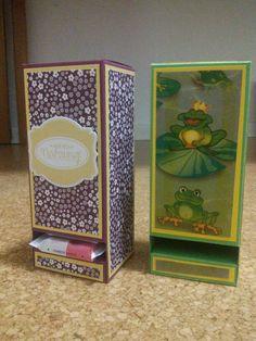 Ritter Sport Schokoladen Spender mit Stampin up nach der Anleitung von Basteltante Doreen