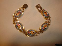 Vintage Ornate MICRO MOSAIC BRACELET from by PastPossessionsOnly