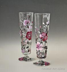 Cocktail Glasses Wedding Glasses Beer Glasses by NevenaArtGlass