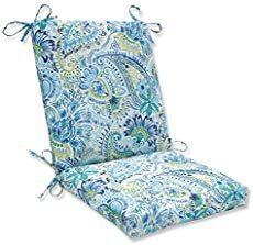 online shopping for Pillow Perfect Outdoor/Indoor Gilford Baltic Square Corner Chair Cushion, x 18 , Blue from top store. See new offer for Pillow Perfect Outdoor/Indoor Gilford Baltic Square Corner Chair Cushion, x 18 , Blue Outdoor Dining Chair Cushions, Patio Cushions, Patio Chairs, Dining Chairs, Outdoor Loveseat, Bistro Chairs, Beach Chairs, Adirondack Chairs, Seat Cushions