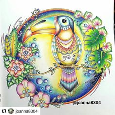 @joanna8304 ・・・ Magical jungle part 1.  #coloring #coloringbook #colouring #magicaljungle #JohannaBasford #adultcoloring #beautifulcolorong #creativecoloring #johannabasfordfan