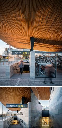Architecture firm Tengbom, have designed the new entrance for Helsingborg Central Station, a train station in Sweden.