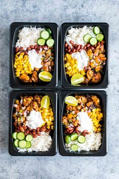 Healthy Meals For Kids Easy chicken burrito meal prep bowls are perfect for planning weekday work lunches ahead! They are super tasty, gluten free and a healthy way to make sure you have home cooked lunch boxes ready to go. Lunch Meal Prep, Meal Prep Bowls, Easy Meal Prep, Healthy Meal Prep, Healthy Snacks, Healthy Recipes, Keto Recipes, Fudge Recipes, Apple Recipes