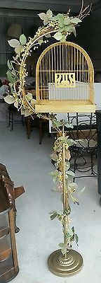 Vintage HENDRYX  Bird Cage with  stand.  Rare and collectable