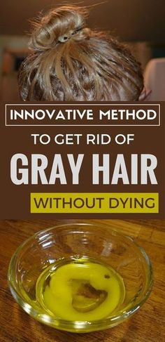 Innovative method to get rid of gray hair without dying. Mama will be trying this!!!
