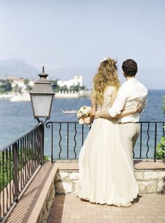 Enjoying the view in the South of France Photography by Polly Alexandre / alexandreweddings.com