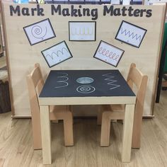 Another repurposed ikea LACK table with chalk paint on top (more inspo from ☺️ ps I am IN LOVE with my new floor 😍🙌🏼 Classroom Setting, Classroom Setup, Classroom Displays, Eyfs Activities, Nursery Activities, Reggio Classroom, Classroom Organisation, Planning School, Ikea Lack Table