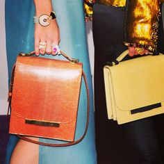 Vintage 70s bags (also loving the jewellery)