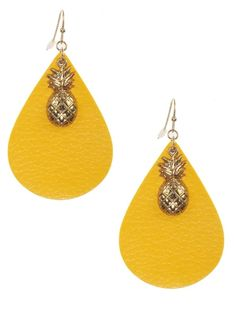 Leather Pineapple Drop Earrings – F. Woolworth Co. Summer Pool Party, Pineapple, Drop Earrings, Leather, Jewelry, Products, Pinecone, Jewlery, Bijoux