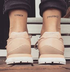create yourself tattoo #ink #youqueen #girly #tattoos #quote #words #text