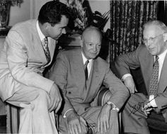 California Governor Earl Warren chats up Dwight Eisenhower and Richard Nixon in Photo via the California Secretary of State Loving V Virginia, Leap Year Babies, The Scottish Play, Dwight Eisenhower, God Bless America, Founding Fathers, First Nations, Getting Old, American History