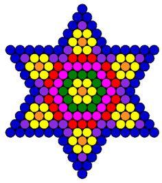 flower star fuse bead pattern