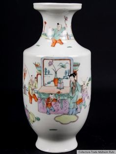 China 20. Jh. Fencai A Chinese Famille Rose Porcelain Vase - Vaso Cinese ChinoisFosterginger.Pinterest.ComMore Pins Like This One At FOSTERGINGER @ PINTEREST No Pin Limitsでこのようなピンがいっぱいになるピンの限界