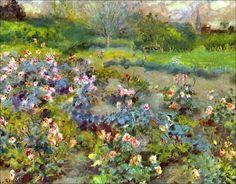 Pierre Auguste Renoir (1841-1919) - Rose Garden - 1870-1873 - Sammlung André Firmenich Genf