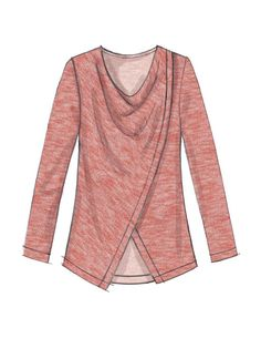 Easy sewing pattern from McCall's. M7437 Misses' Asymmetrical-Overlay, Cowl-Neck Tops and Tunic