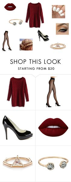 """""""Winter Wardrobe"""" by lola0413 ❤ liked on Polyvore featuring Chicwish, Wolford, MICHAEL Michael Kors, Lime Crime, Eva Fehren and Kendra Scott"""