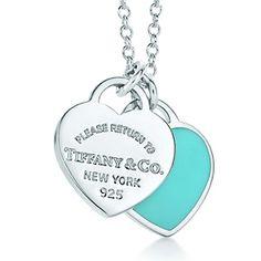 Tiffany & Co Return to Tiffany Mini Double Heart Tag Pendant Tiffany Blue Tiffany Jewelry, Tiffany Necklace, Blue Necklace, Tiffany Bracelets, Pendant Necklace, Azul Tiffany, Tiffany And Co, Tiffany Blue, All I Want