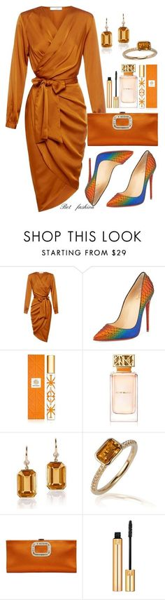 Untitled #335 by betfashion ❤ liked on Polyvore featuring Christian Louboutin, Tory Burch, Goshwara, Roger Vivier and Yves Saint Laurent