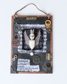 Unique Mixed Media Oddity Art With the Definition of Unique by ArtofMyFocus on Etsy